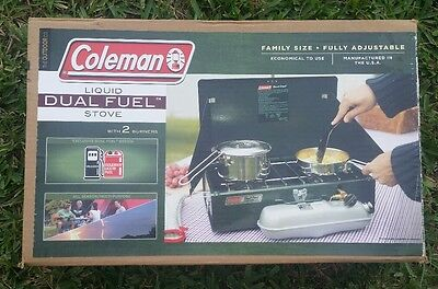 Coleman Liquid Dual Fuel Stove with 2 Burners Family Size