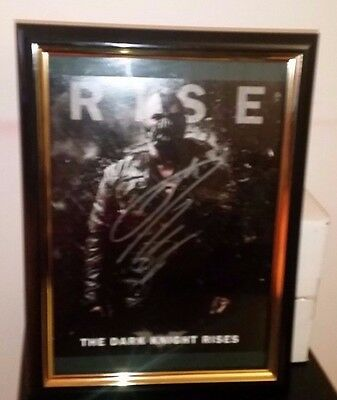 Batman The Dark Knight Rises - Hand Signed By Tom Hardy With Coa - Framed 8X10