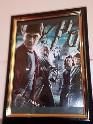 Harry Potter - Hand Signed With Coa -Radcliffe Watson Grint Framed 8X10 Photo