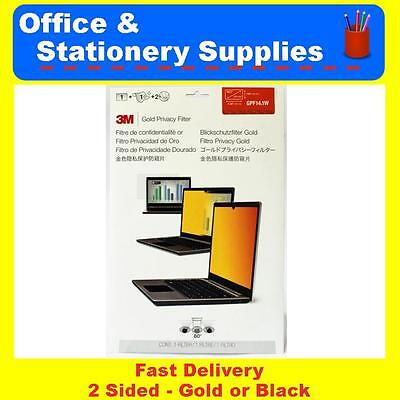 """3M 14.1 Inch Gold or Black Privacy Filter GPF14.1W for Widescreen Laptops 14.1"""""""