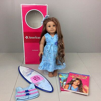 American Girl KANANI DOLL 2011 GOTY Meet Outfit Dress With Box Books Paddleboard