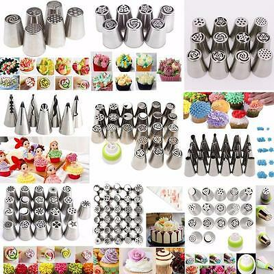 Various Set Russian Flower Leaf Icing Piping Nozzles Cake Baking Decorating Tips