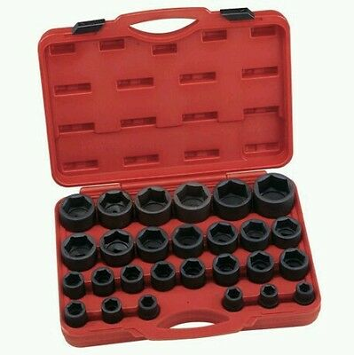 "Genius Tools Is-627S 27 Pc 3/4"" Dr Sae Impact Socket Set Lifetime Warranty"