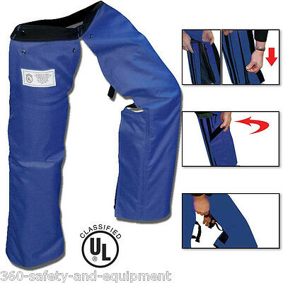 Chainsaw Safety Protective Chaps Blue All New Zipper Style Chainsaw Chap