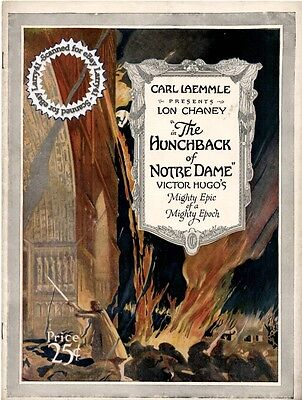 Lon Chaney, near MINT Film Program, The HUNCHBACK of NOTRE DAME (1923) photos,++