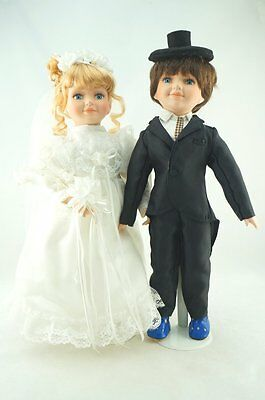 Cosette Porcelain Realistic Doll Boy Girl Bride Groom Wedding Gift Collection
