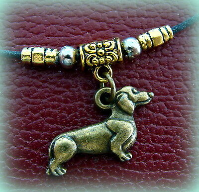 NEW!  DACHSHUND DOG JEWELRY Pendant Necklace - Sausage Weiner DOXIE Puppy Pup