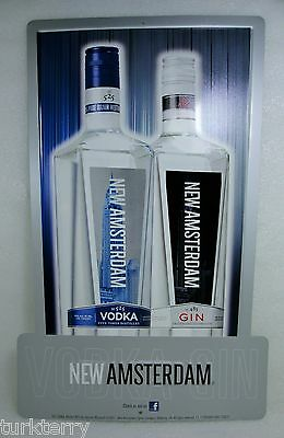 New Amsterdam Vodka Gin Advertising Tin Metal Man Cave Sign
