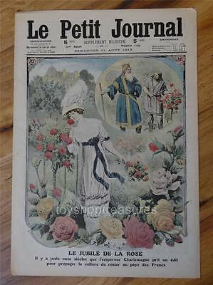 1912 Antique FRENCH Le Petit Journal  - The Jubilee of the Rose
