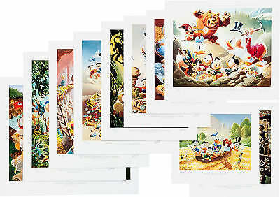 """Carl Barks -10 Signed Prints """"Lithographic Suite of Preliminary Paintings""""  1989"""