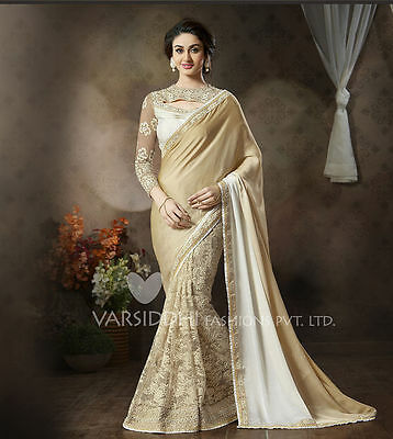 Indian Traditional Ethnic Designer Women  Saree Sari Bridal Party Wear Dress