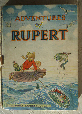 Adventures of Rupert Daily Express Annual 1950 Collectable Children's Book
