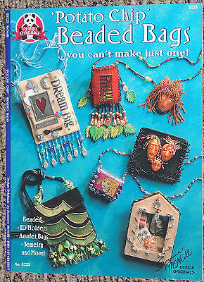 Potatao Chip BEADED BAGS Craft Book - ID Holders Jewelry & More S McNeill