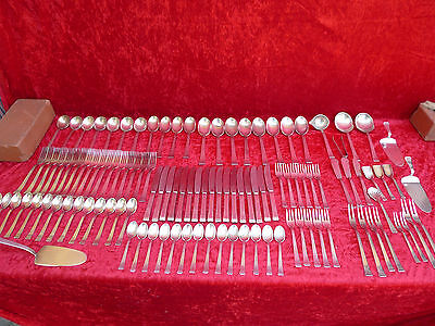 Pretty, old Cutlery__WMF Bauhaus Patent 90__114 Pieces__