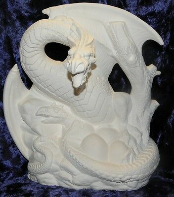 Ceramic Bisque Ready To Paint Small Spring dragon
