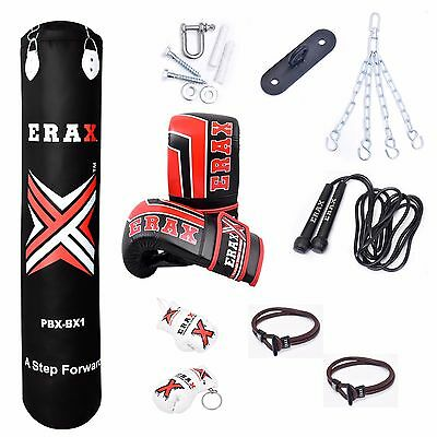 Punch Bag 5Ft Unfilled Mma Boxing Training Kick Exercise Punching Sparring