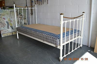 Victorian iron and brass single bed