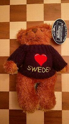 Allan Flink soft toy teddy bear Love Sweden Sweater with tag