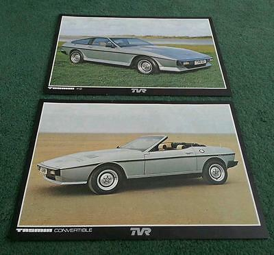 1980 1981 TVR TASMIN 2.8 CONVERTIBLE & +2 COUPE -2 x DIFFERENT LEAFLETS BROCHURE