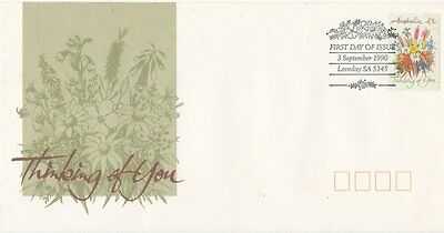 "1990 Australian FDC ""Thinking of You"" x 2"