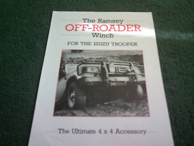 1988 Isuzu TROOPER Ramsey Off-Roader Winch UK SINGLE SHEET - BROCHURE