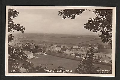 Melidan - looking West - photographic postcard