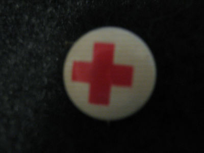 Vintage Red Cross  Pin back Pin