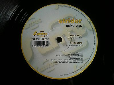 Strider Coke EP I Get A Coke Booming Track hardstyle hard trance vinyl record