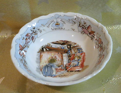 Royal Doulton Brambly Hedge Winter Cereal Bowl Coup Jill Barklem 1990