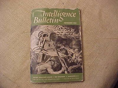Original Wwii 1945 Intelligence Bulletin - Captured Japanese Souvenirs
