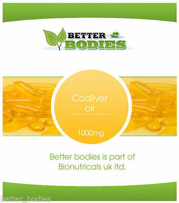 High Strength Cod Liver Oil 1000mg 360 Capsules  FREE UK Delivery BULK BAG