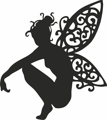 Die Cut Outs Silhouette CROUCHING FAIRY topper Shapes x 10 cardmaking, Fairy Jar
