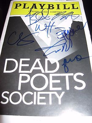 Dead Poets Society Off Broadway autographed playbill RARE !