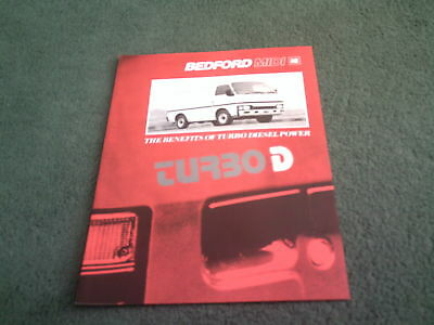 May 1988 BEDFORD Vauxhall MIDI TURBO DIESEL BROCHURE - B3052