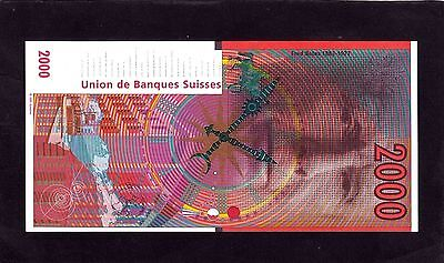 Union de banques Suisses proof note 1997 Switzerland