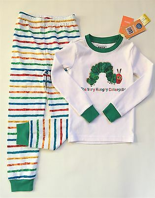 Gymboree Eric Carle Hungry Caterpillar Cotton Long Pajamas New Size 5