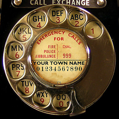 PRINT YOUR OWN NUMBER Old Telephone Dial Label Creator Bakelite GPO Deco USA UK
