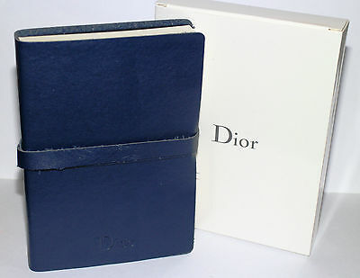 Brand New Genuine Christian Dior Leather Travel Journal Notebook Diary Note Book