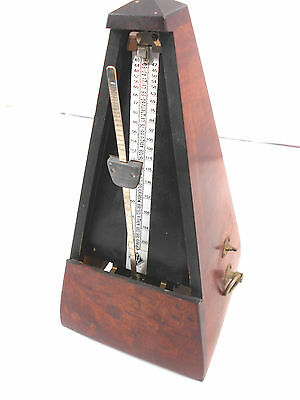 Vintage Wittner Mahogany Wood Pyramid Metronome Made in Germany Key Wind