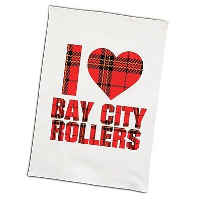 Les Mckeown Official I Love Bay City Rollers Brand New Tea Towel