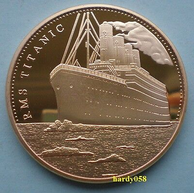 """RMS Titanic """"In memory of Titanic"""" coin Gold Plated 1oz"""