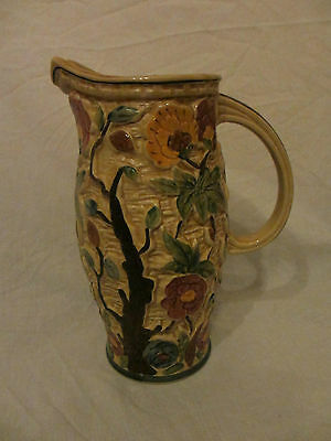 H J Wood Indian Tree Large Pitcher Jug Vase Hand Painted Good Condition