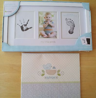 "Pearhead Babyprints Photo Frame and C.R. Gibson Nest ""My First Year"" Calendar"