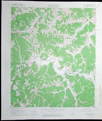 Hazel Green Kentucky Red River vintage 1967 old USGS Topo chart