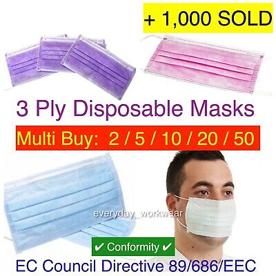Disposable 3ply Loop Surgical Virus Flu Face Medical Spray Mask Mouth Protector