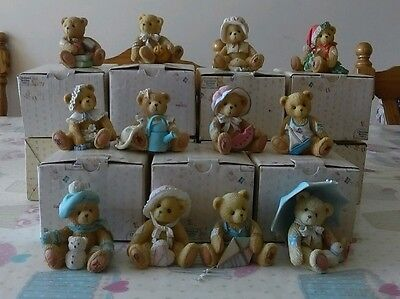 Cherished Teddies Monthly Friends to Cherish Complete set Boxed UK