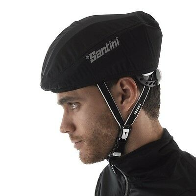 NEW Santini Bike Cycling Weather Guard Helmet Cover Black Universal