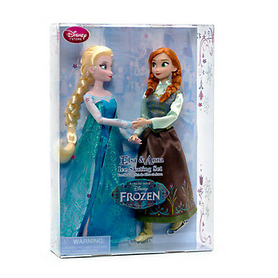 Disney Store Official Frozen Elsa and Anna Ice Skating Doll Set -BRAND NEW
