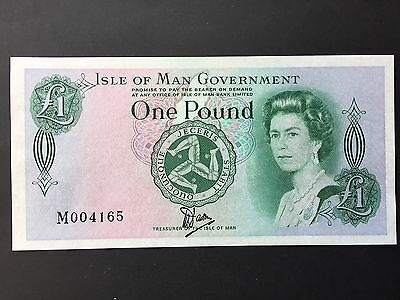 Isle of Man 1 Pound P38 Bradvek Plastic Note Signed Dawson Issued 1983 UNC