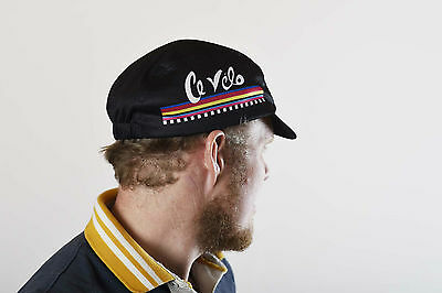 Large retro cycling cap.. awesome cycling apparel for cyclist or racer!